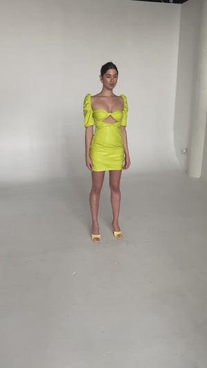 Load and play video in Gallery viewer, WYATT DRESS PISTACHIO