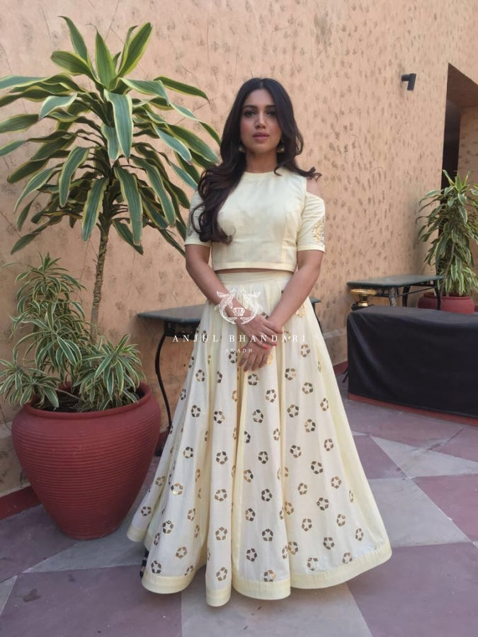 Bhumi Pednekar In Lemon Yellow Lehenga Set Set