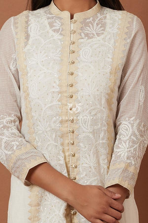 Load image into Gallery viewer, Ivory & Beige Kurta Set