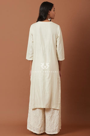 Load image into Gallery viewer, Ivory/green Kurta Set