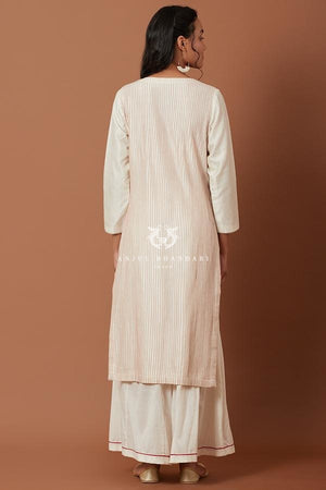 Load image into Gallery viewer, Ivory/red Kurta Set