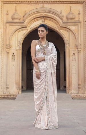 Load image into Gallery viewer, Kamdani Blush Pink Saree
