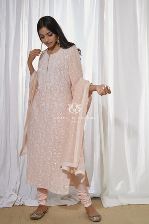 Load image into Gallery viewer, Kurta Set Blush Pink