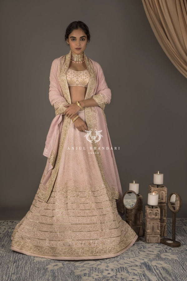 Load image into Gallery viewer, Lehenga Pink Set