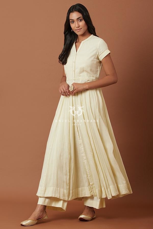 Lemon Yellow Anarkali Set