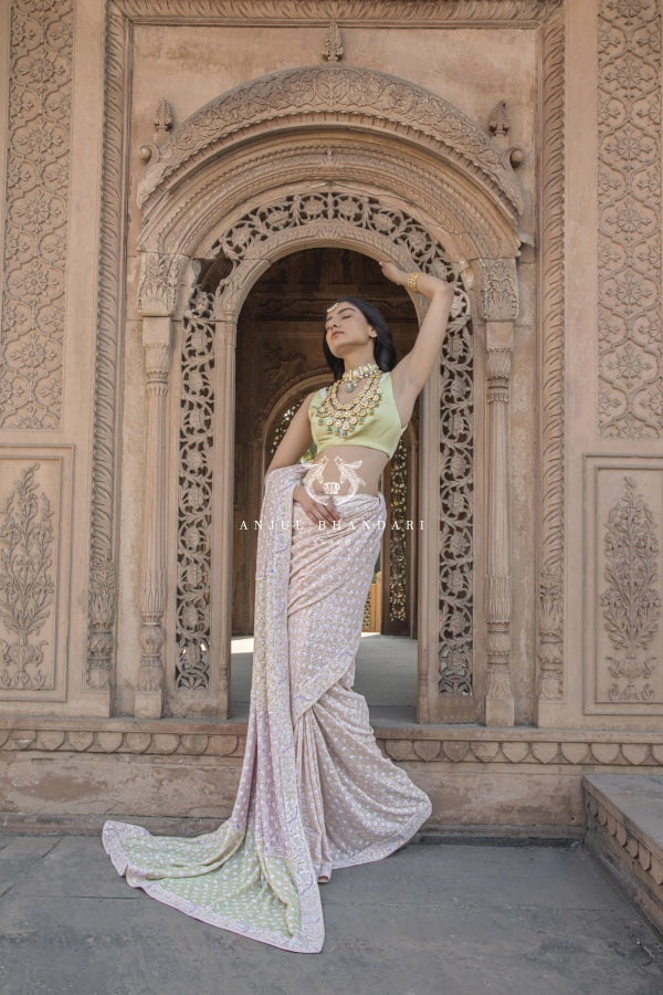 Load image into Gallery viewer, Multi-Tone Saree Set