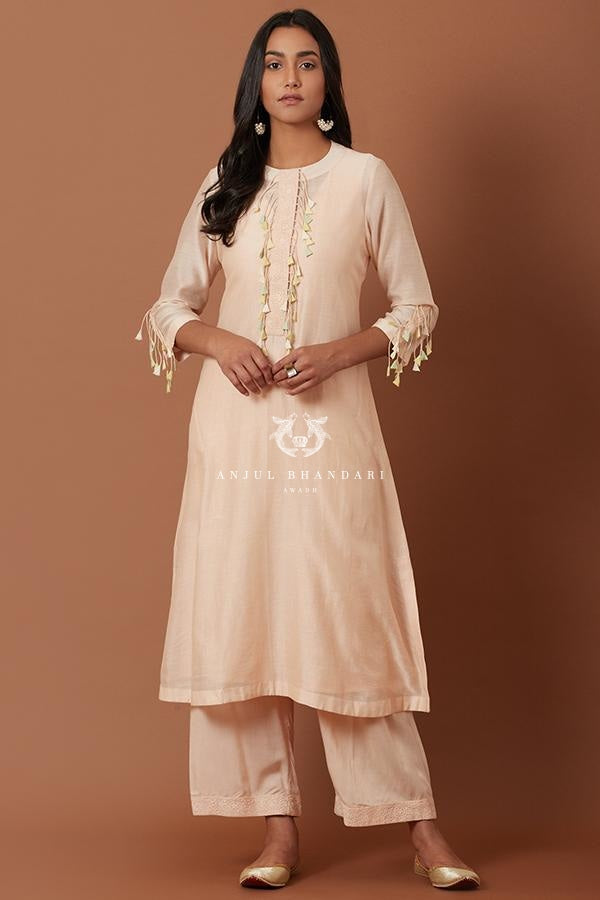 Peach Kurta Set