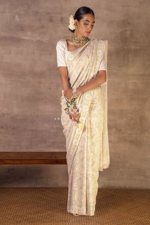 Load image into Gallery viewer, Saree Ivory