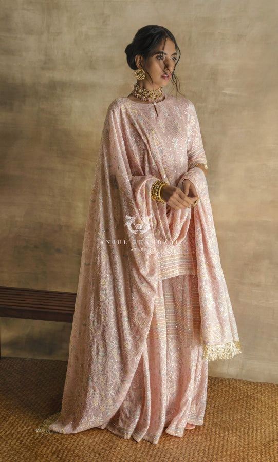 Sharara Blush Pink Set
