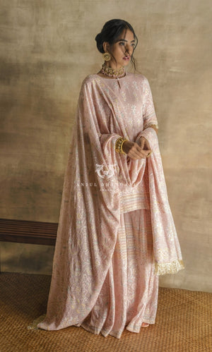 Load image into Gallery viewer, Sharara Blush Pink Set