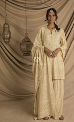 Sharara Pastel Yellow Set