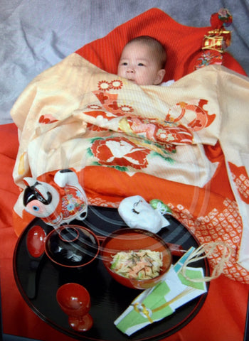 <i>okuizome</i>,<br> ceremony for the first solid foods