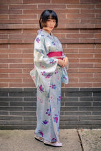 Load image into Gallery viewer, Washable Komon Kimono - Morning Glory