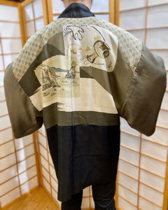 Vintage Men's Haori Jacket - Lucky lining
