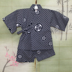 Cotton boy's two piece kimono set