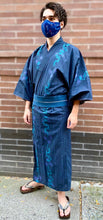 Load image into Gallery viewer, Cotton Authentic Dark Blue Yukata