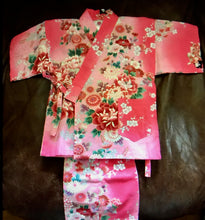 Load image into Gallery viewer, Cotton two piece kimono set