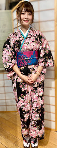 Women's cotton yukata