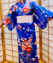 Load image into Gallery viewer, Satin cotton girl's kimono robe