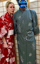 Load image into Gallery viewer, Cotton Kimono Robe kanji characters