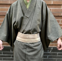 Load image into Gallery viewer, Vintage Silk Kimono - dark green