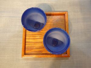 Blue Ceramic Tea Cup Set