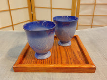 Load image into Gallery viewer, Blue Ceramic Tea Cup Set