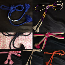 "Load image into Gallery viewer, ""Obijime"" silk obi cords 3"
