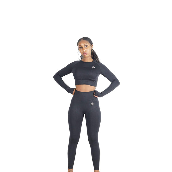 BLACK MOVEMENT SEAMLESS SET