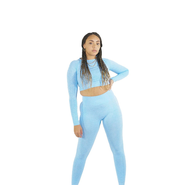 Seamless Activewear Set For Womens