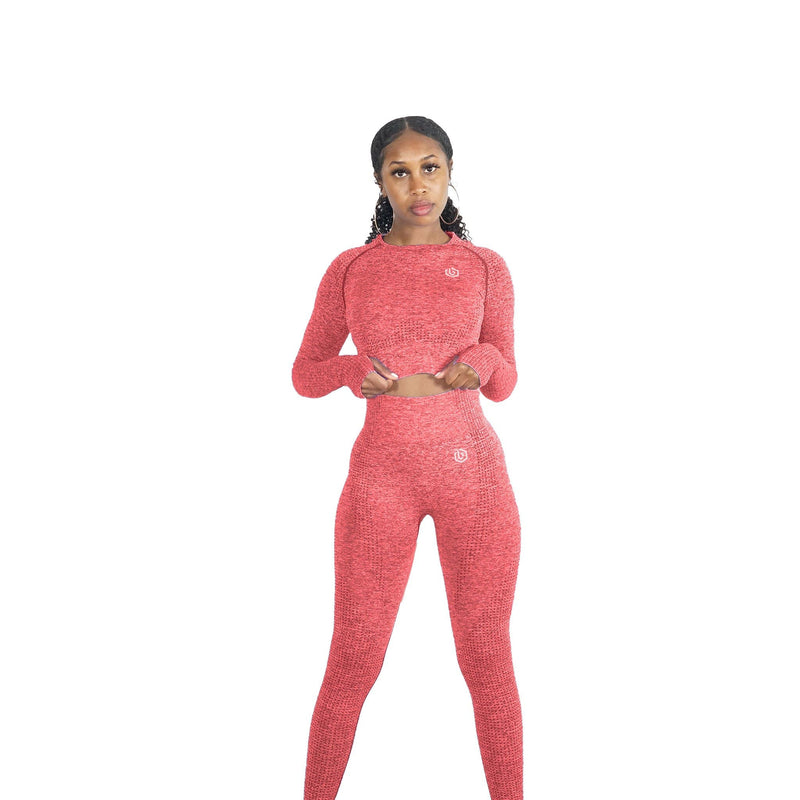 CORAL RED MOVEMENT SEAMLESS SET