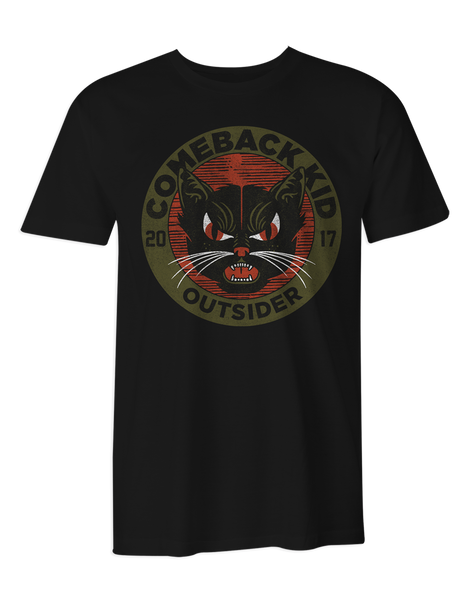 Comeback Kid Outsider Cat T-Shirt