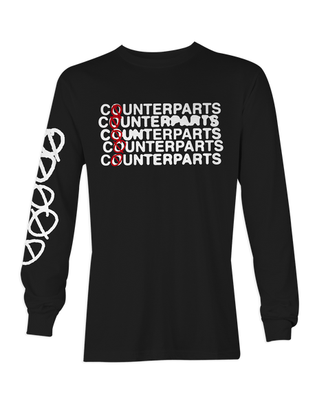 Counterparts Stacked Black Long Sleeve