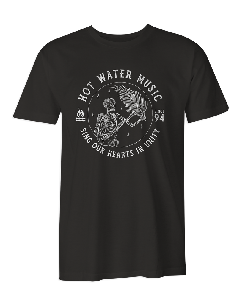 Hot Water Music Banjo Black T-Shirt