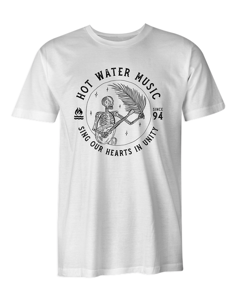 Hot Water Music Banjo White T-Shirt