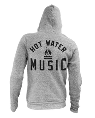 Hot Water Music Logo Grey ZipUp
