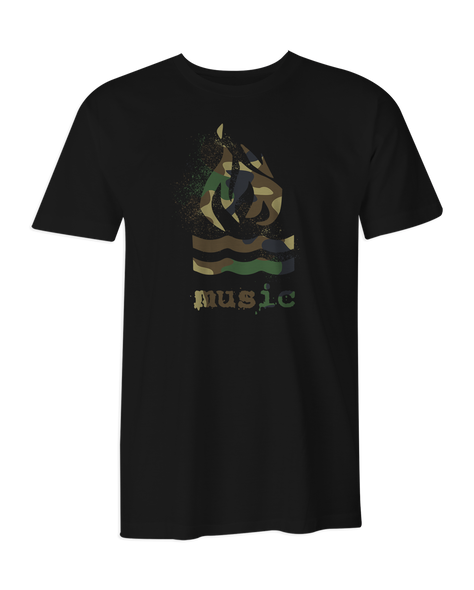 Hot Water Music Traditional Camo T-Shirt