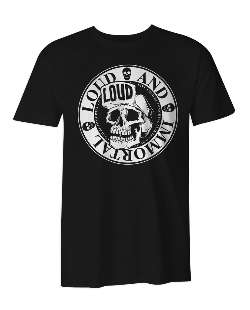 Loud & Immortal Skull Logo T-Shirt