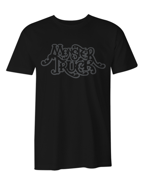Monster Truck Grey Logo T-Shirt