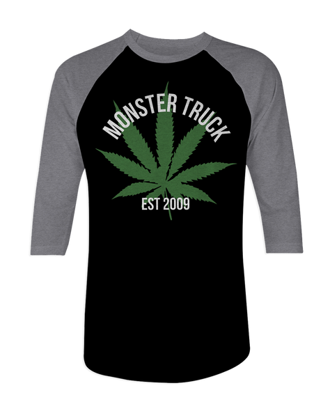 Monster Truck Weed Raglan