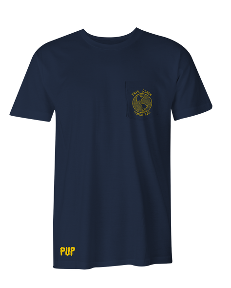 PUP Earth Shirt Pocket Navy T-Shirt