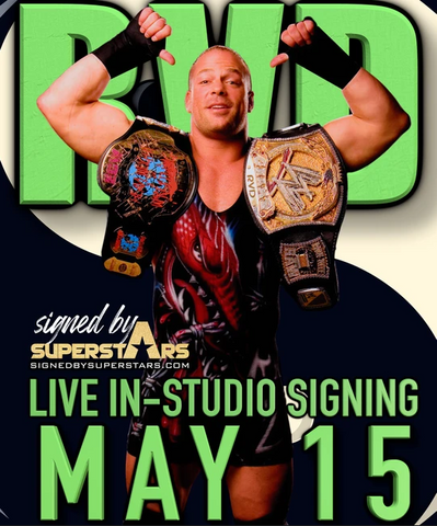 Rob Van Dam Autographed Items (5/15/21 In-studio Signing)