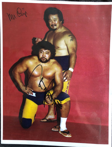 Mr. Fuji & Masa Saito Dual Signed Photo
