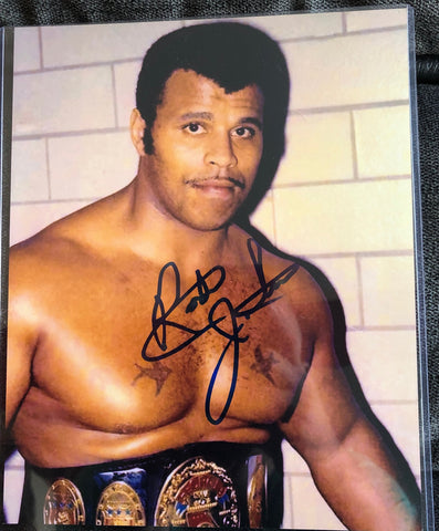 "Rocky Johnson Signed 4x6"" Photo"