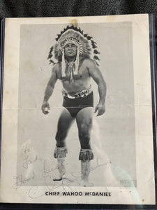 Chief Wahoo McDaniel Signed Personalized Promo