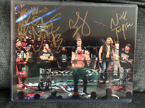 Young Bucks, Adam Page, Marty Scurll, & Cody Rhodes Signed Photo