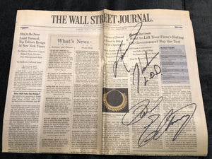 Animal and Paul Ellering Dual Signed Wall Street Journal