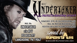 Undertaker Private Signing Autographed Items (Dec 2020)