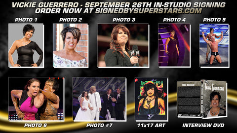 Vickie Guerrero Autographed Items (9/26/20 In-Studio Signing)