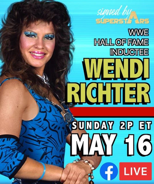 Wendi Richter Autographed Items (5/16/21 In-studio Signing)